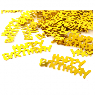 "Konfetti ""Happy Birthday"" GOLD (200St.)"
